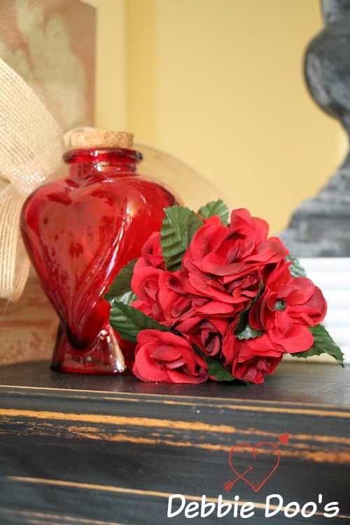 Valentine mantel decor