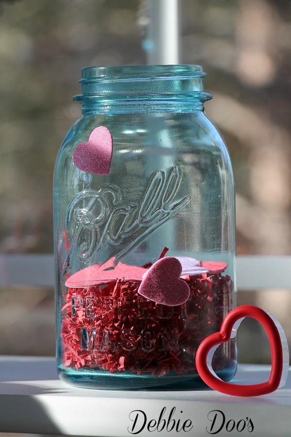 Valentine mason jar