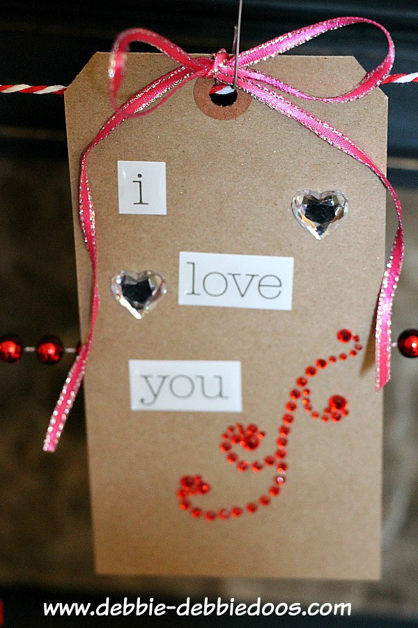 cardstock diy valentine banner