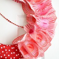 Valentine Ribbon cupcake liner foam wreath