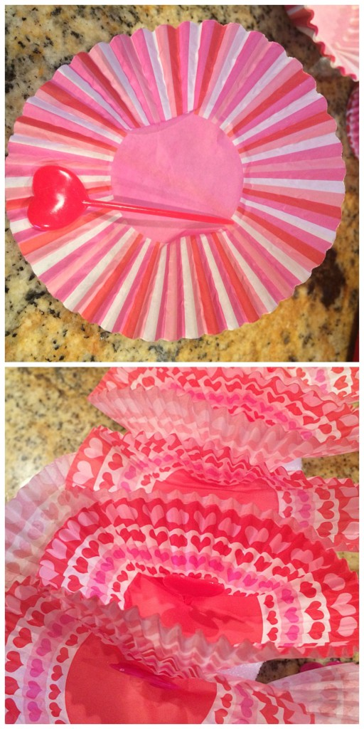 diy foam ribbon cupcake liner wreath