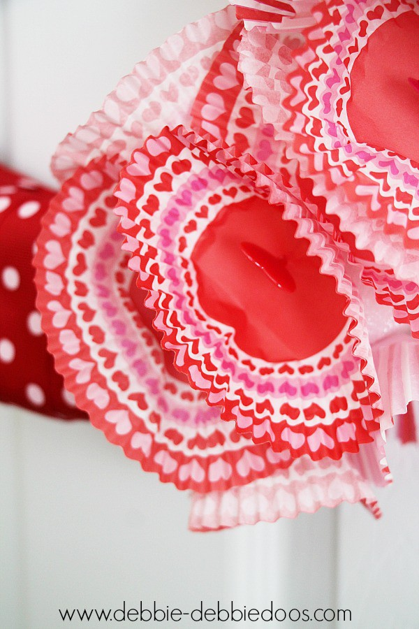 dollar tree cupcake liner wreath