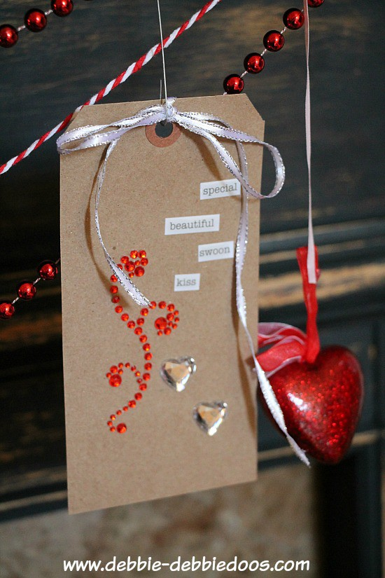 gift tag banner for Valentine's day