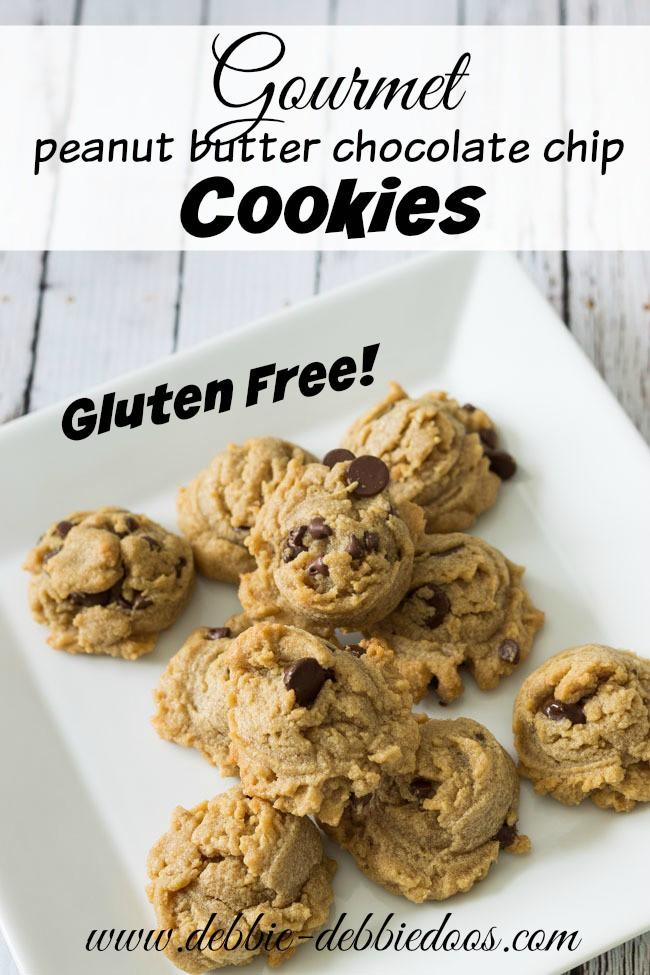 Gluten free gourmet peanut butter chocolate chip cookies - Debbiedoos
