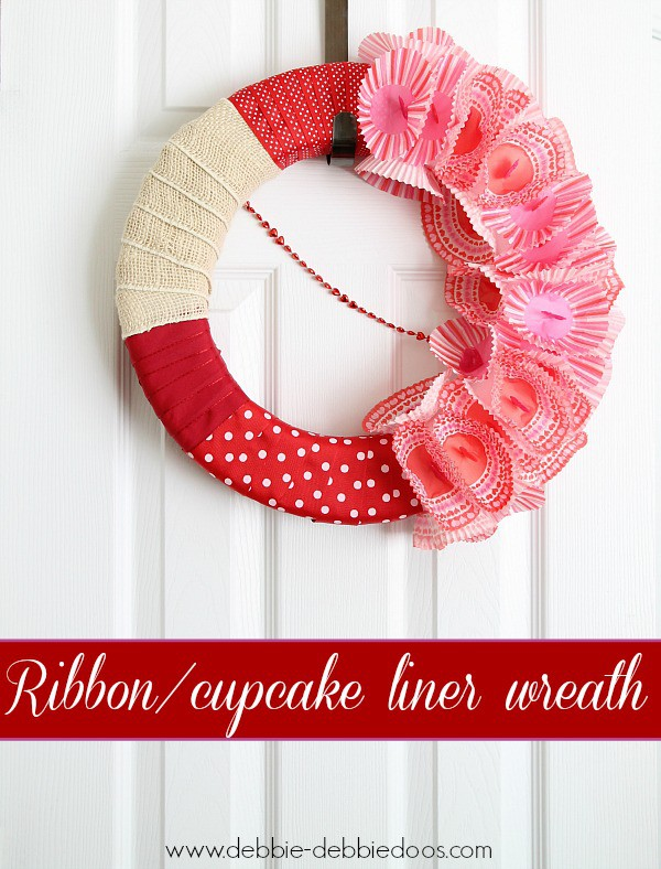 ribbon cupcake liner wreath 007