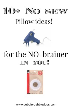 10+ No sew pillow ideas