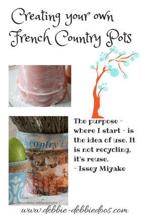 Creating your own French Country Pots