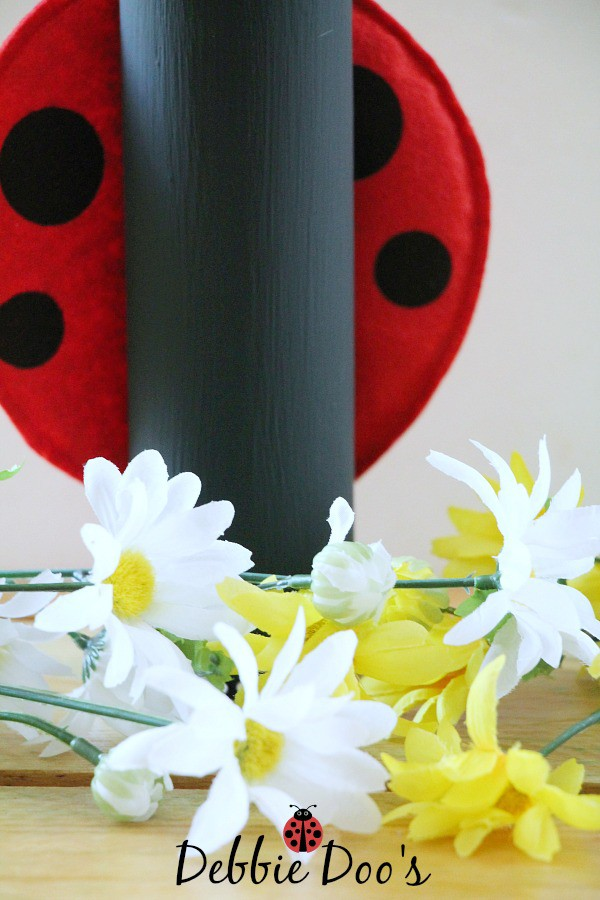 Dollar tree candle turned lady bug