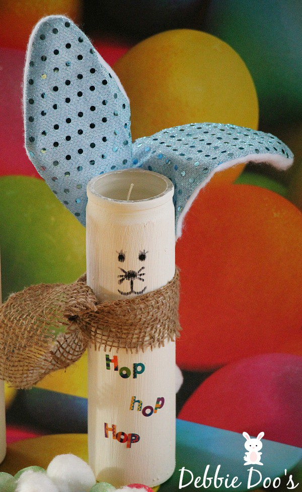 Dollar tree easter bunny candle 016