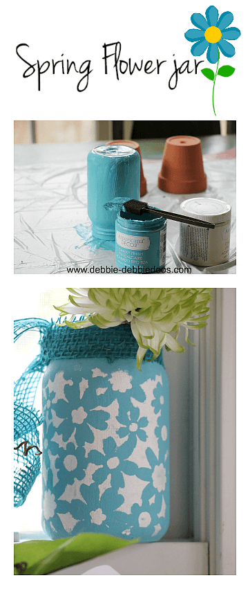 How to make a spring flower jar