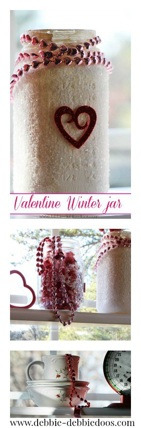 Styling and decorating the kitchen for Valentine's day
