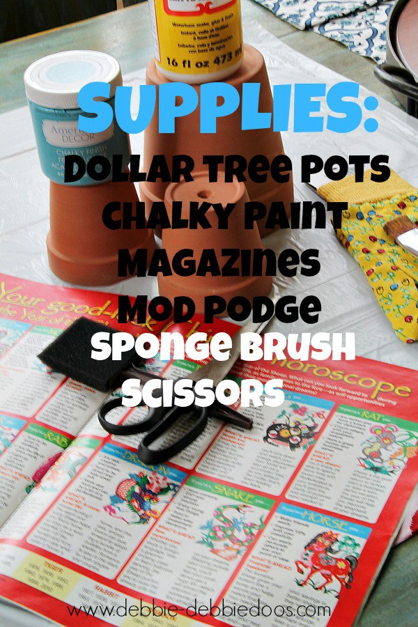 Supplies needed for French pots