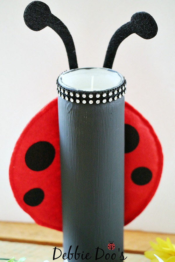 lady bug dollar tree candle