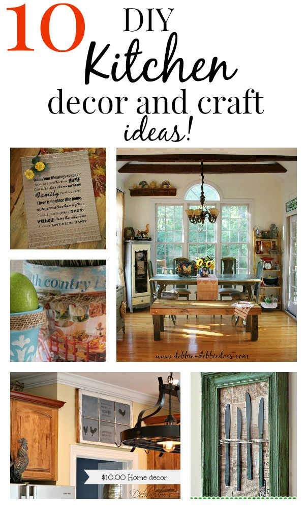 10 easy diy kitchen craft decor ideas debbiedoos for Diy kitchen ideas on a budget