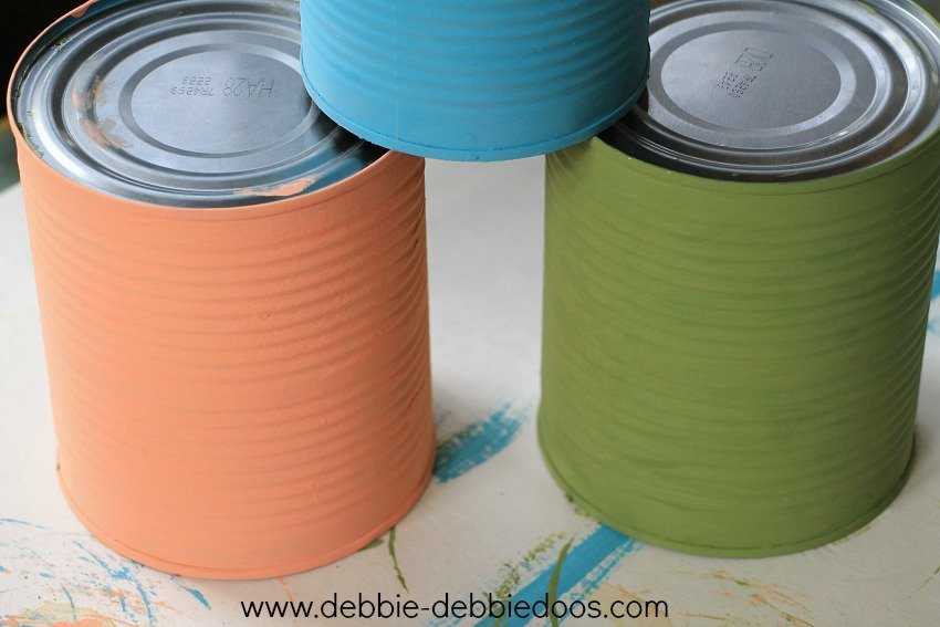chalky paint on cans