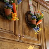 How to make Dollar tree Spring wreaths