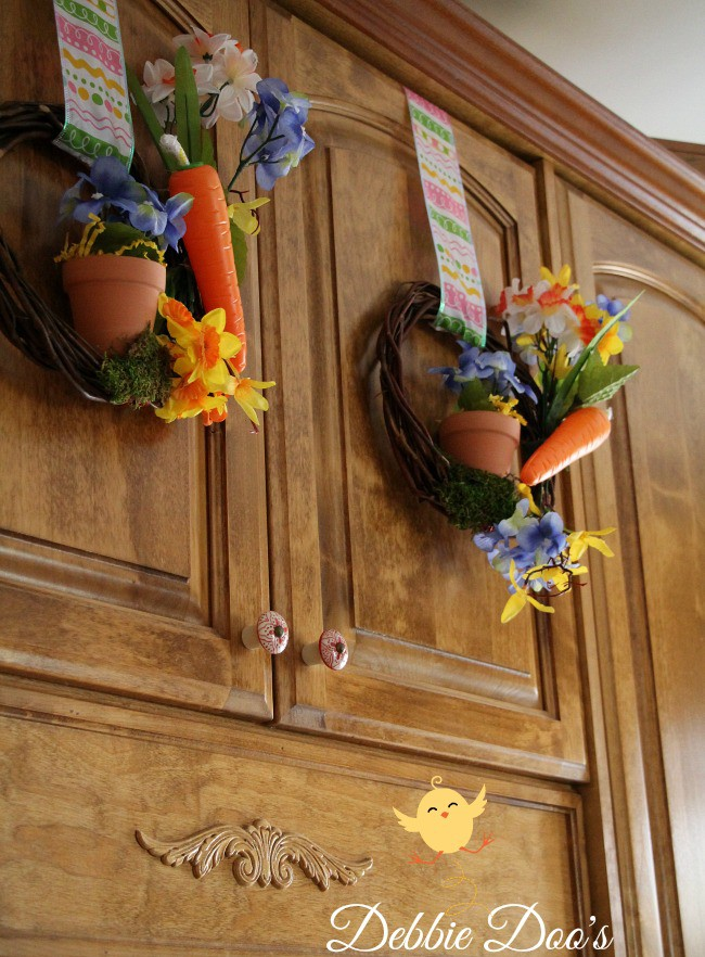 Spring dollar tree mini grapevine wreaths
