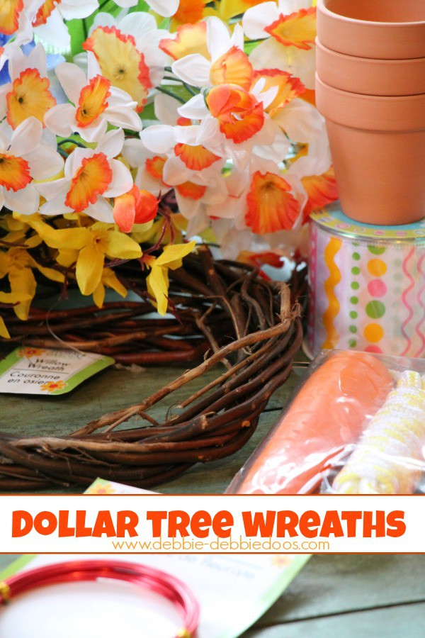 How to make Spring dollar tree wreaths