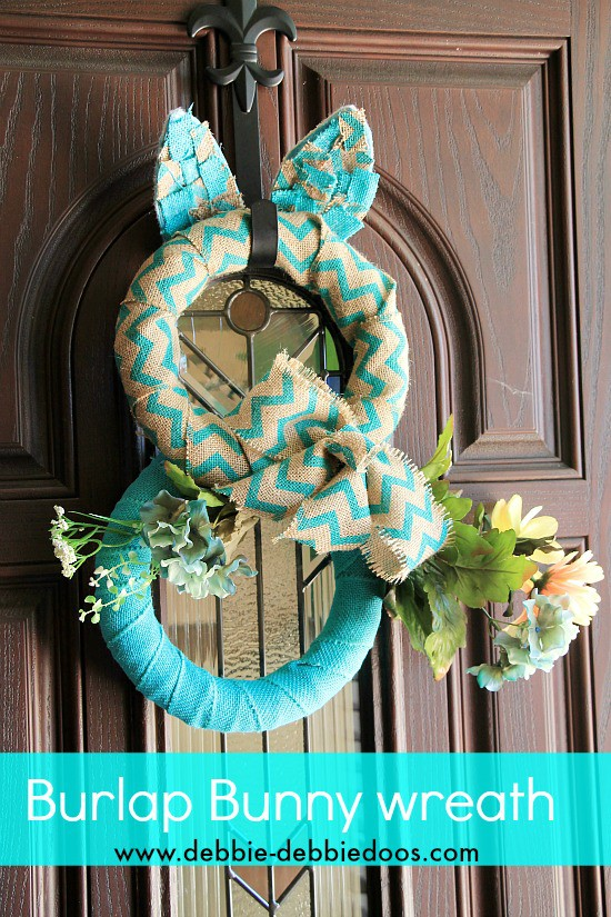 How to make a burlap bunny wreath