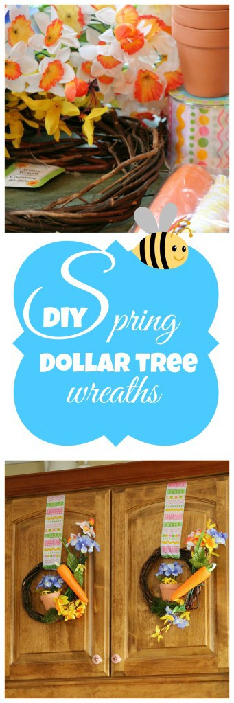How to make your own dollar store Spring wreaths