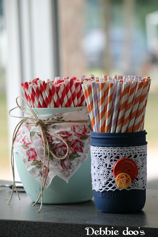 Painting-cans-and-mason-jars-for-a-wedding-