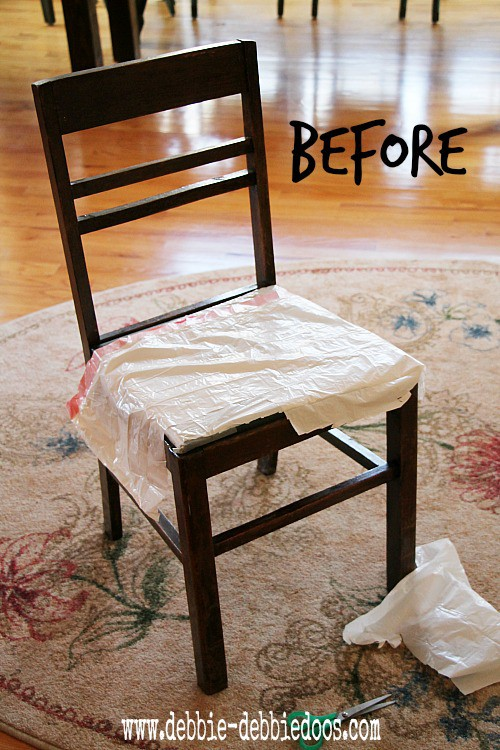 Thrifty chair makeover for Spring 001