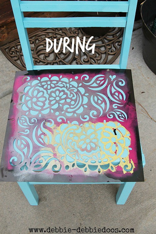 How to stencil on a chair