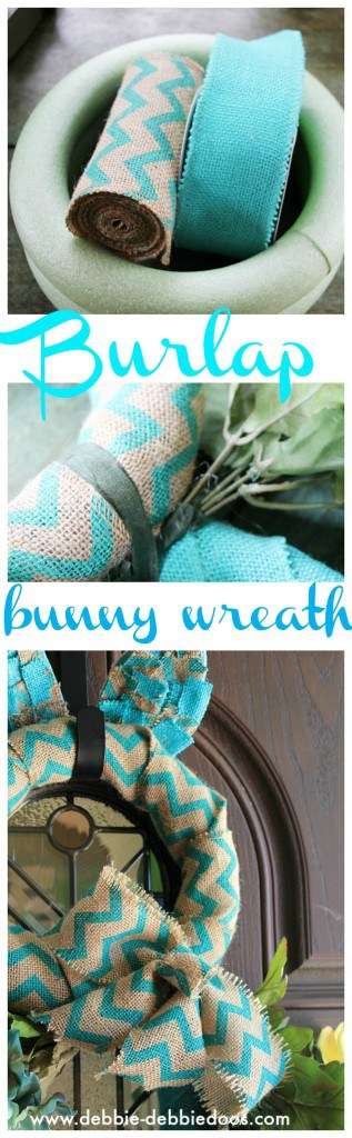 burlap bunny wreath for front door