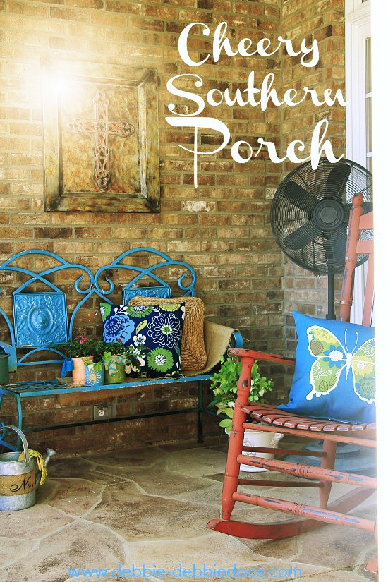 Cheery sunny porch