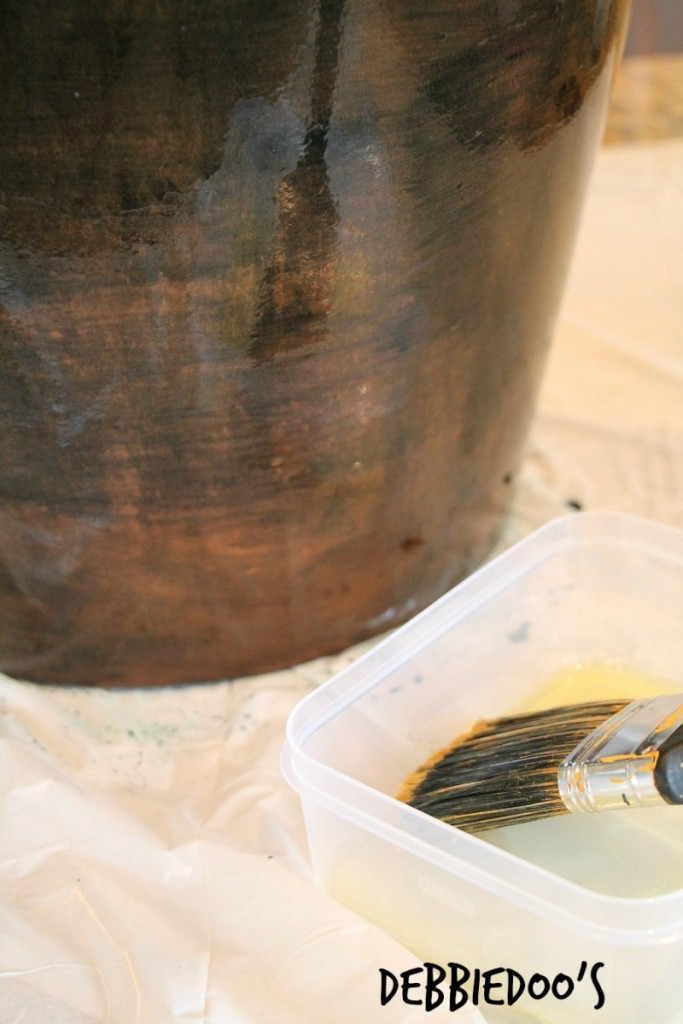 process of staining a pot with rit dye