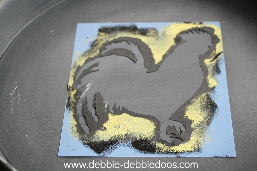 rooster stencil from hobby lobby
