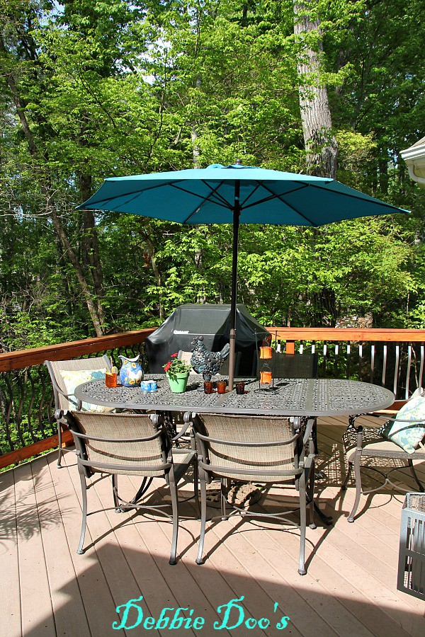 Carolina home deck and garden area