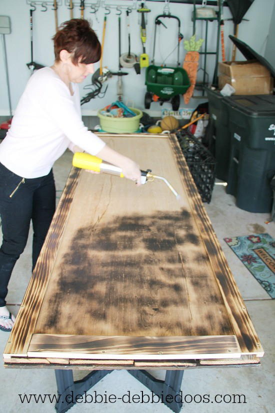 How to use the BernzOmatic to age wood