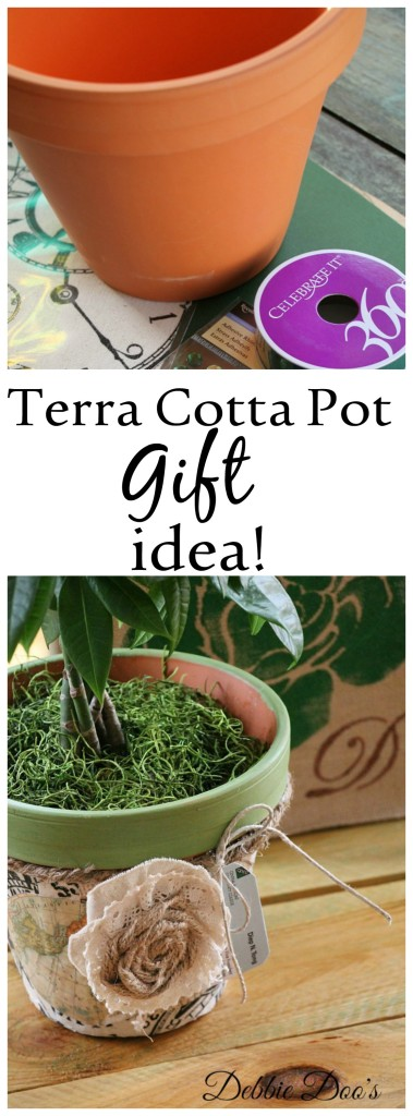 Terra cotta pot retirement gift idea