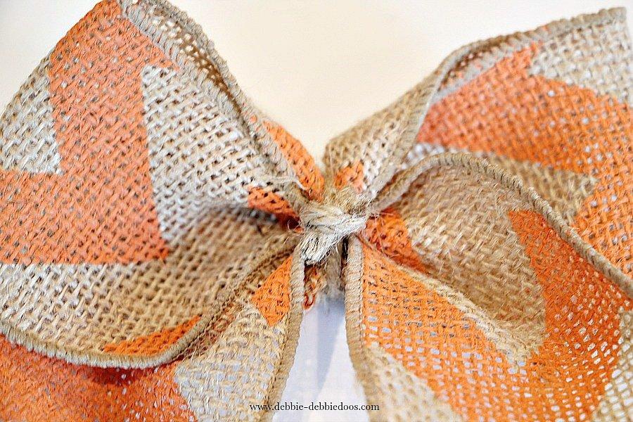 chevron burlap bow