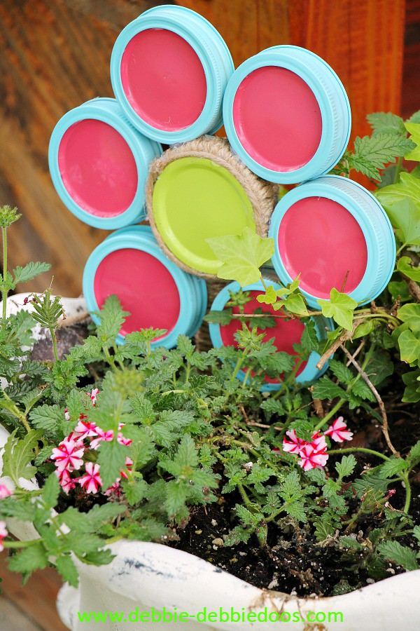 mason jar lid flower