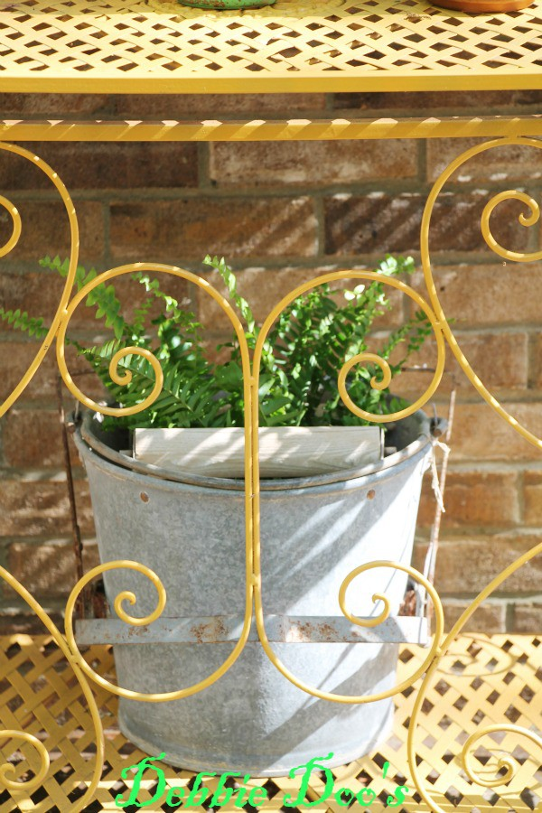 mop bucket planter