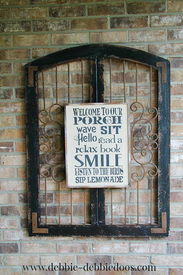 DIY stenciled porch sign