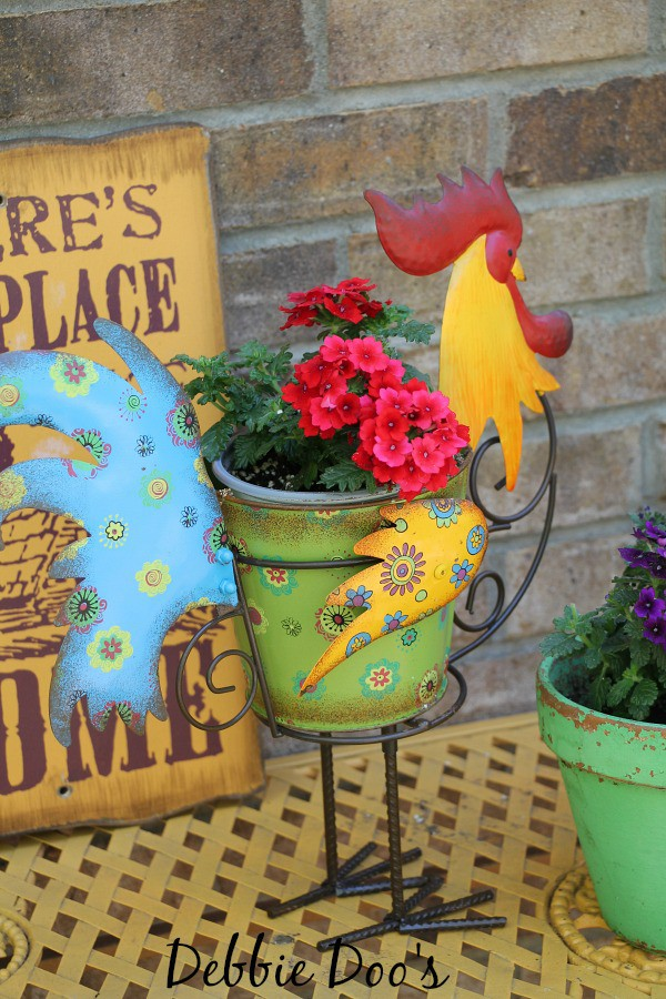 rooster planter from LTD