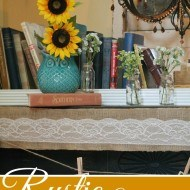 rustic summer mantel with whimsy appeal