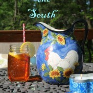 Sipping Southern sweet tea on the patio