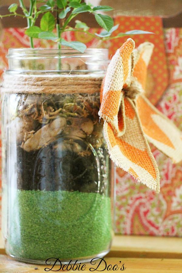 mason jar garden jar idea