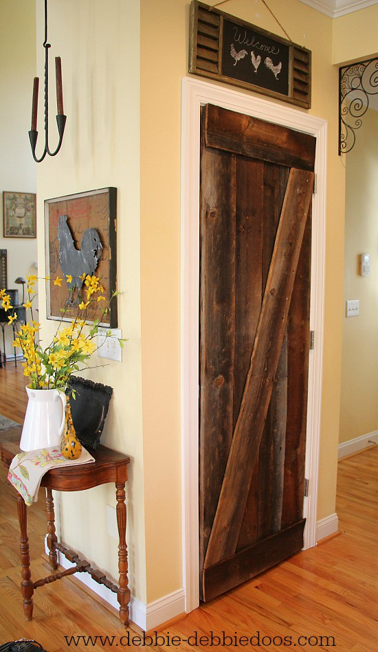 tobacco barnwood pantry door