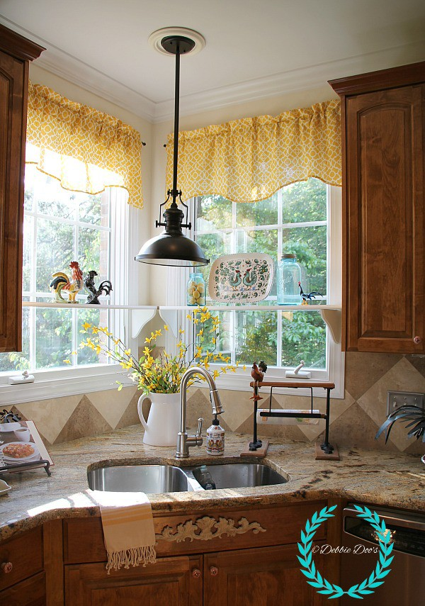 French country summer kitchen tour