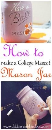 How to make a mascot mason jar