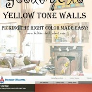 So goodbye to yellow tone walls