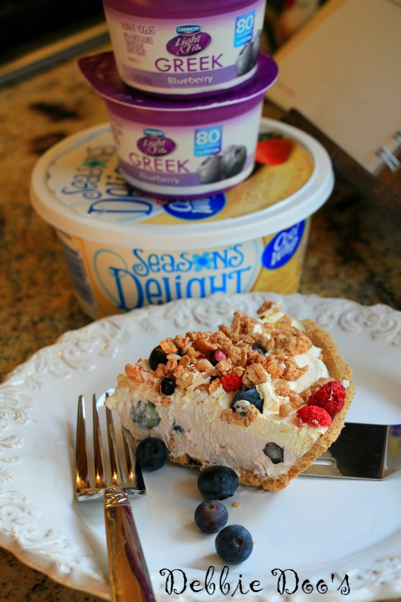 blueberry yogurt ice box cake