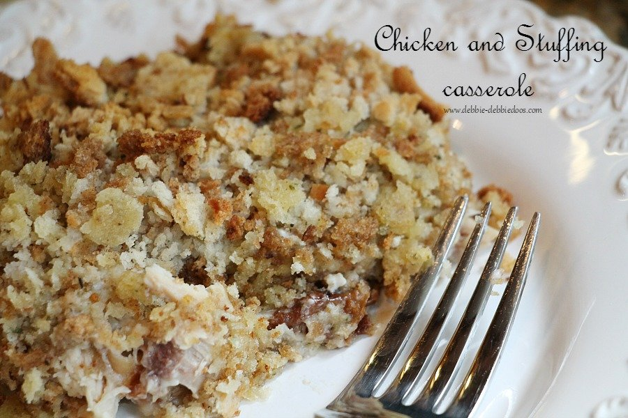 chicken and stuffing dump casserole