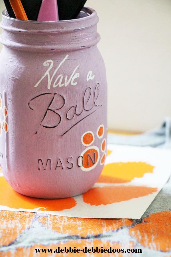 Clemson University mason jar gift idea