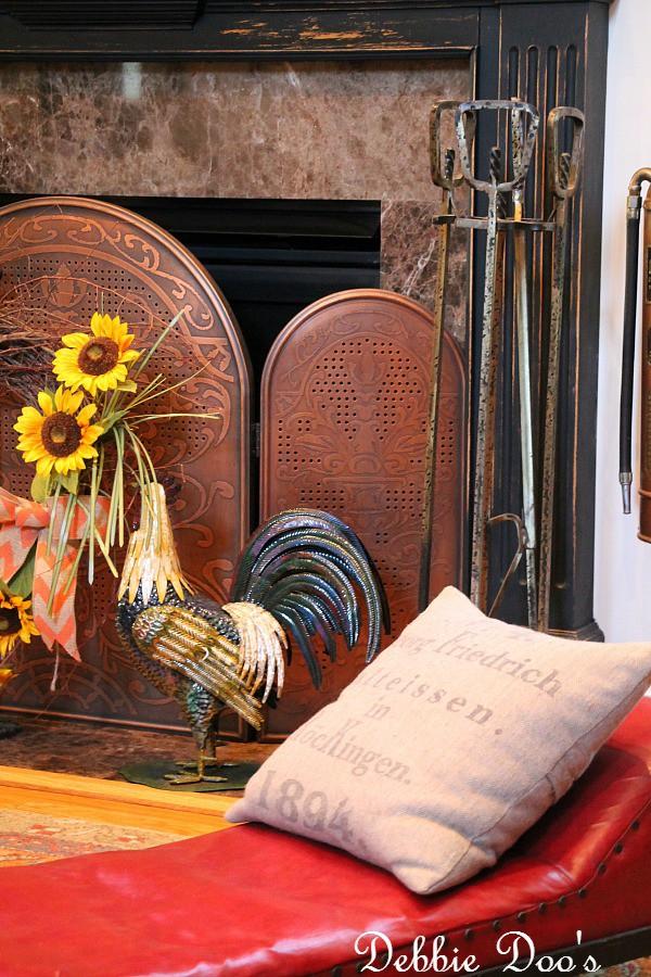 copper fireplace screen